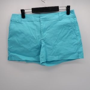 New York & Co. Blue Flat Front Chino Shorts Size 8